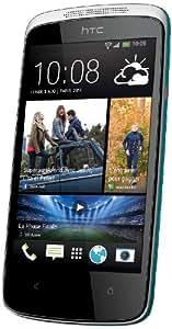 HTC Desire 500 - Smartphone (4,3''/10,9 cm, USB, Android 4.2 Jelly Bean, 4 GB), color blanco y azul (importado)