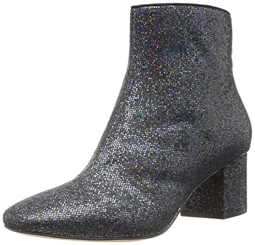 The Fix Women's Daniella Block-Heel Ankle Bootie, Black Party Glitter, 8 B US ()