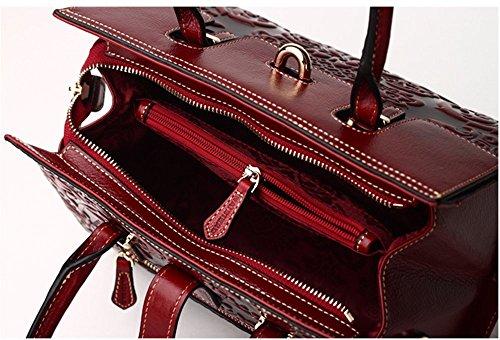 Bandoulière Rrock Sac Vintage Style À Rétro Cuir En Main Messenger Owtw1