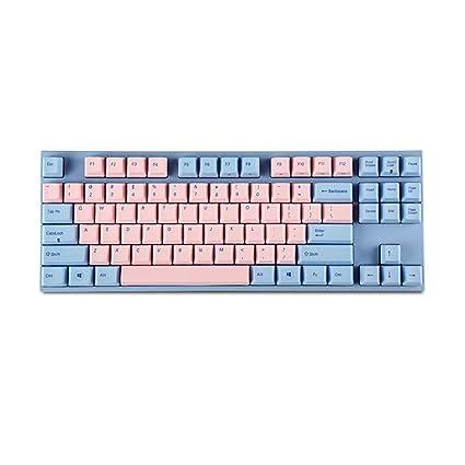LCRGMPC Cherry Blossom Pink Girl Teclado mecánico Mute Juego Oficina Teclado Ergonomía Va87M Cherry Black Axis