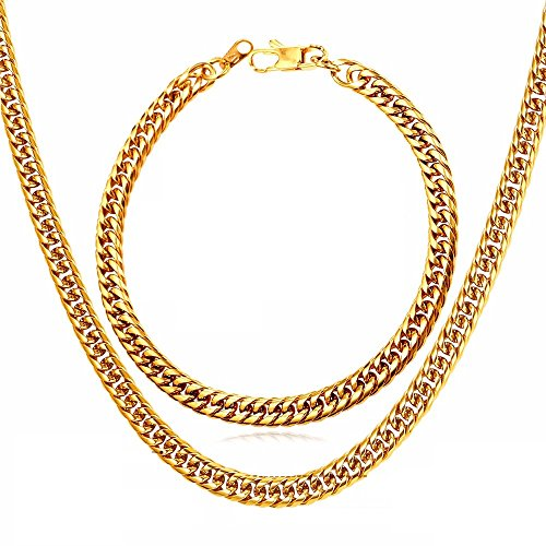 cadenas-de-oro-plata-men-para-hombres-laminada-necklace-bracelet-set-men-jewelry-cuban-link-chain-22