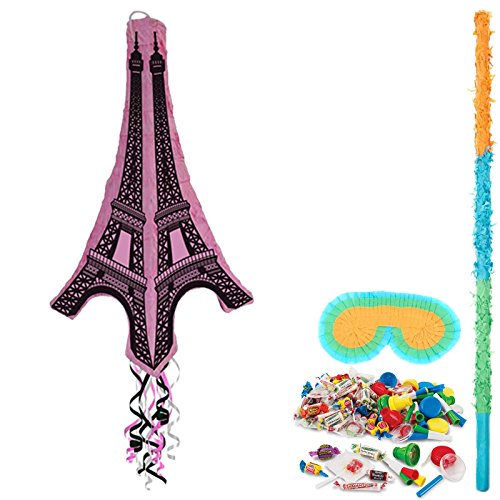 BirthdayExpress Eiffel Tower Party Supplies 3D Pinata Kit