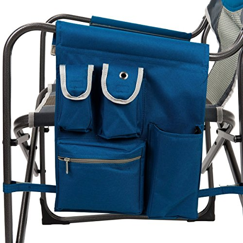 Timber Ridge Portable Folding Director's Chair Utility Lightweight for Camping