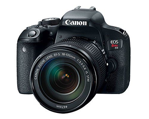 Canon Digital SLR Camera EOS Rebel T7i 24.2 Mp with Lens, 18 mm-135 mm / 800D, 3' Touchscreen LCD, 16:9, 7.5x Optical Zoom, Optical (IS), E-TTL II, 6000 x 4000 Image, 1920 x 1080 Video, HDMI