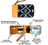 Surf Kit - A Great Surfer Gift & Surf Accessory that Holds your Sticky Bumps Wax, Organic Sunscreen Face Stick, All Natural Lip Balm, and Wax Scraper! All in a Stylish Aztec Design Surf Wax Holder!