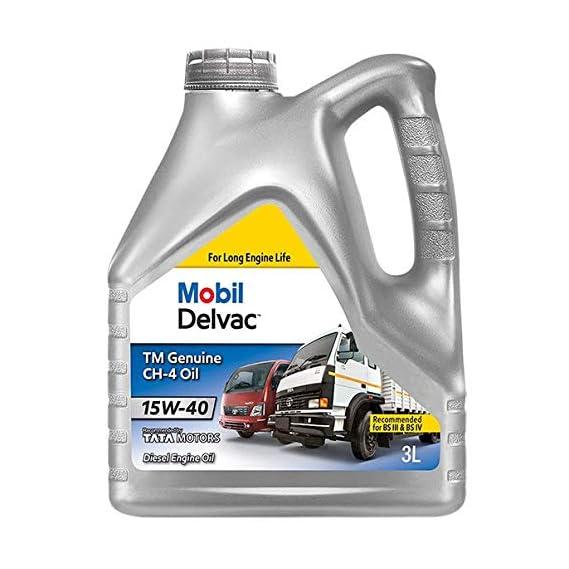 Mobil Delvac TM Genuine API CH-4 15W-40 Diesel Engine Oil for Trucks (3L)