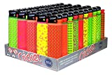 Disposable Cricket Lighters Fluo Pattern (Original) - Tray of 50