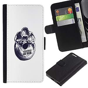 Protector de cuero de la PU de la cubierta del estilo de la carpeta del tirón BY RAYDREAMMM - Apple Iphone 6 PLUS 5.5 - Resumen Amigos