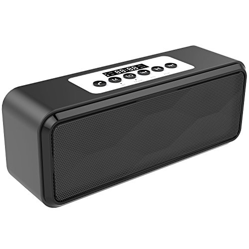 Bluetooth Speakers,HIFI DTS-HD Technolog Portable Wireless Bluetooth Speaker Stereo (Black)