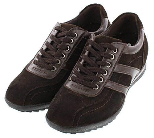 CALTO G60973-2.8 inches Taller - Height Increasing Elevator Shoes - Nubuck Dark Brown Casual buy cheap wiki v4tGaN