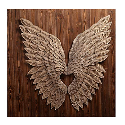 DNSJB Artwork Wall Decoration Industrial Wind Office Wall Decoration Wall Hanging Vintage Iron Wing Wall Decoration Bar Wall Decoration Pendant (Color : -