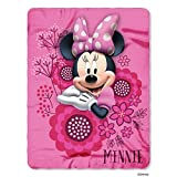 Disney Minnie's Bowtique So Many Bows Printed Fleece Throw Blanket, 45 by 60''