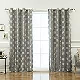 Cheap Best Home Fashion Grey Arrow Room Darkening Blackout Grommet Top Curtain 84″ L – (Set of 2 Panels)