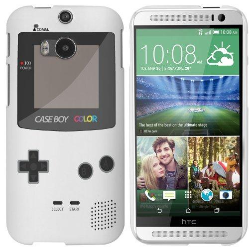 Model) Case - White Hard Plastic (PC) Cover with Retro Gameboy Design ()