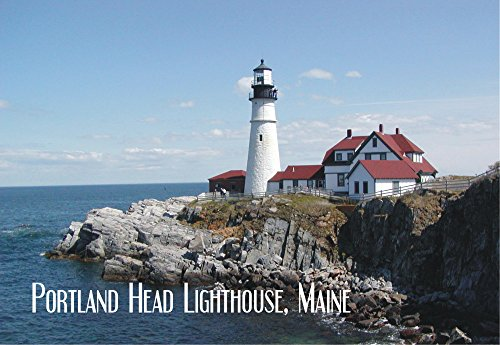 - Portland Head Lighthouse, Cape Elizabeth, Museum, Maine, Portland Harbor, Travel, Souvenir, Locker Magnet 2 x 3 Fridge Magnet
