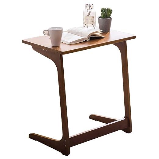 LXLA Mesa de Aperitivos de bambú para pequeño Espacio, sofá Cama ...