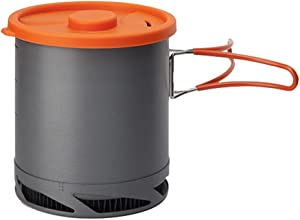 Tentock Outdoor Portable Heat Collecting Exchanger Pot 1L Anodized Aluminum Camping Cookware with Mesh Bag