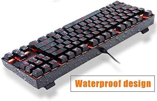 Mechanical Gaming Keyboard 87-Key RGB LED Backlit USB Wired Multi-Media Keyboard for PC//Mac//iPad//iPhone//Smartphone//Laptop