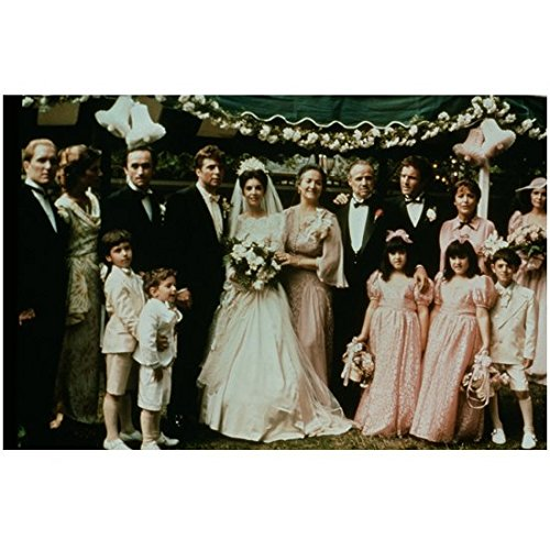 The Godfather (1972) 8 Inch x10 Inch Photo Marlon Brando at Wedding w/Cast Pose 2 kn