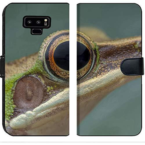 - Luxlady Samsung Galaxy Note 9 Flip Fabric Wallet Case White lipped Frog Hylarana labialis at The Night Image ID 27569868