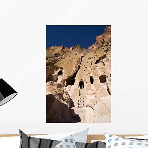 Wallmonkeys Bandelier New Mexico Cliff Wall Mural Peel and Stick Graphic (24 in H x 16 in W) WM121974 ()