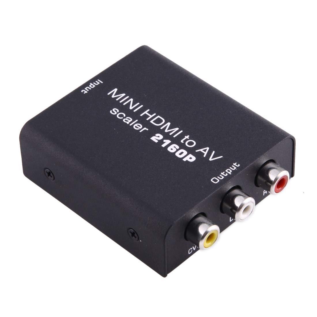 Anstoremate HDMI Series GuoBomate HDMI Series Mini HDMI to AV/CVBS Composite Video Signal Converter(Black) (Color : Black)
