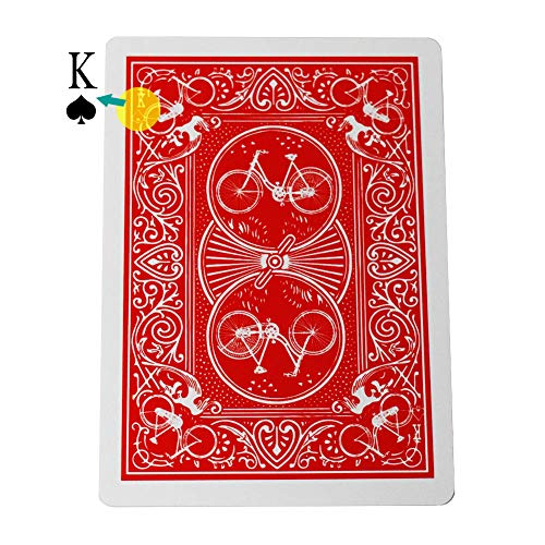 OUERMAMA Marked Stripper Deck Playing Cards with Instruction Poker Magic Tricks Props Close Up Street Illusion Mentalism Gimmick ()