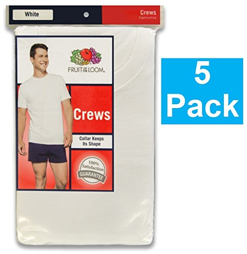 (Fruit of the Loom Mens 5 Oz. 100% Heavy Cotton HD T-Shirt(3931)-WHITE-5XL-5PK )