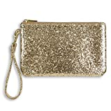 Glittering Tech Charging Wristlet w Power Bank, Gold