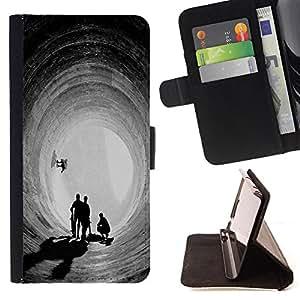 Dragon Case- Caja de la carpeta del caso en folio de cuero del tir¨®n de la cubierta protectora Shell FOR Samsung GALAXY ALPHA G850 SM-G850F G850Y G850M- Skateboard HipPop Man Funny