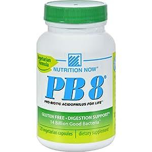Nutrition Now PB 8 ProBiotic Acidophilus Vegetarian - 120 VegCap, 2 pack