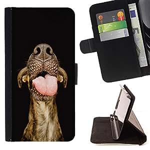 KingStore / Leather Etui en cuir / Samsung Galaxy S4 Mini i9190 / Ganado Lengua Hocico