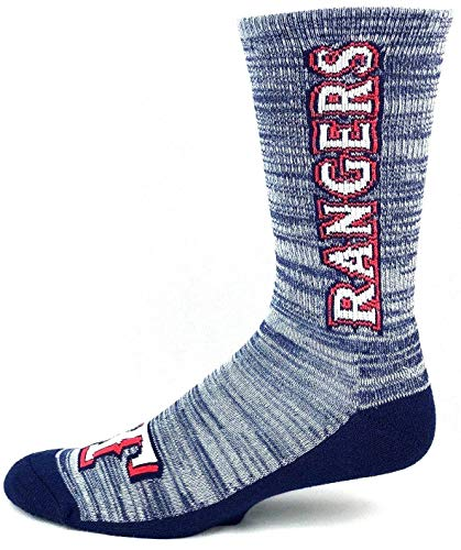 - For Bare Feet Texas Rangers Blue RMC Crew Socks Navy Solid Bottom - Size Large