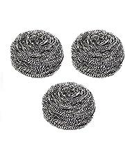Large Stainless Steel Sponge Set, Metal Sponge, Metal Scrubber, Stainless Steel scouring pad,Pack of 3 pcs, 20g