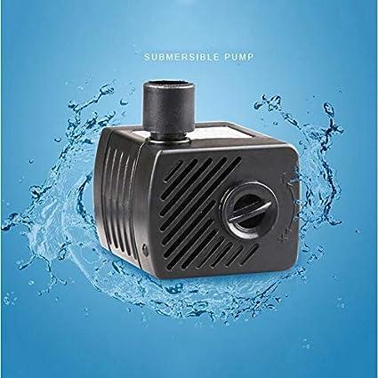 Nicepets - Bomba de Agua Sumergible de 1000 litros/Hora y 22W de Potencia para circulación de Agua Dulce o Marina en acuarios, peceras, estanques y Fuentes: ...