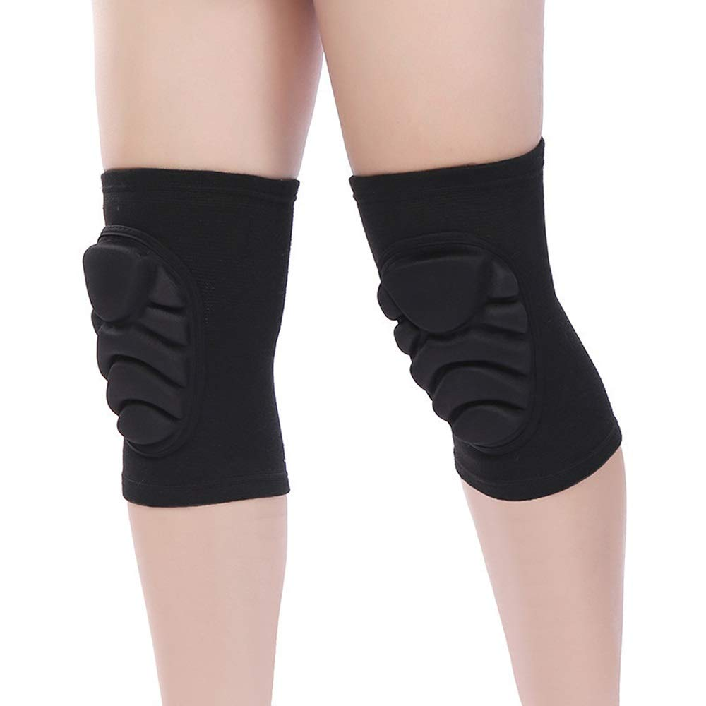 C.W.USJ Knee Brace Compression Sleeve with Strap for Best Support & Pain Relief Shock Absorption Adjustable Knee Belt (Color : Black, Size : M) by C.W.USJ