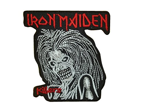 IRON MAIDEN Iron On Patch Fabric Applique Motif Rock Band Punk Metal 3 x 2.7 inches (7.5 x 6.5 cm)