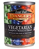Evanger's Low Fat Vegetarian Dinner Canned Dog & Cat Wet Food 13 Ounce, Pack of 12