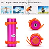 Kingzer 4GB USB Swimming Diving Waterproof MP3 Player FM Radio Earphone Pink