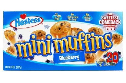 Hostess Mini Muffins 20 Pc Box  Blueberry
