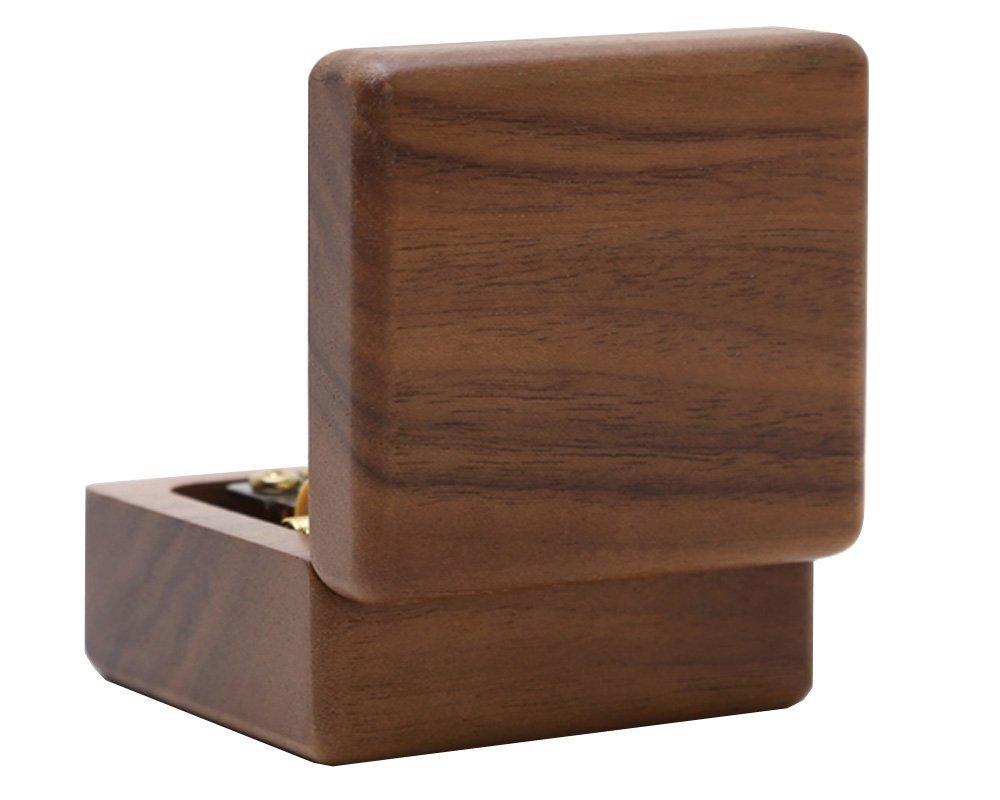 -E: Kanon, 002: Walnut music box Micat/® Christmas Music Box Wooden Music Box Boutique Creative Birthday Gift to Girlfriend Girls Small Gifts