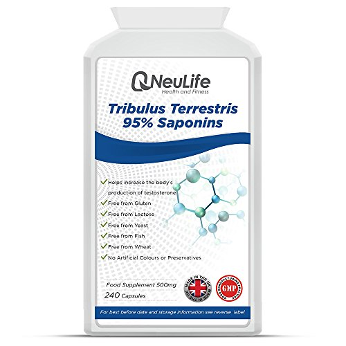 Tribulus Terrestris 95% Saponins 500mg x 240 Capsules | Testosterone...