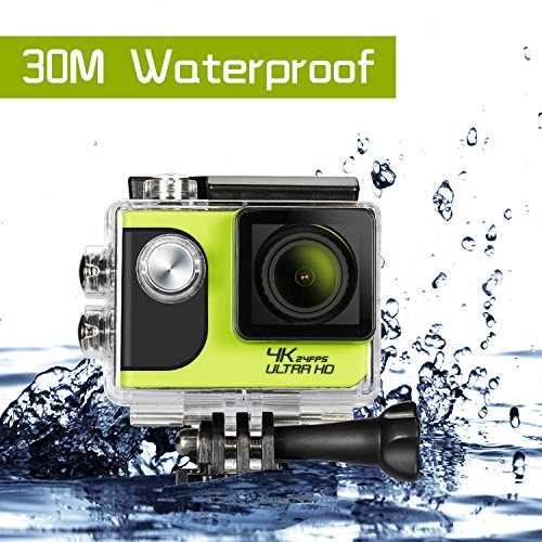 4K Action Camera, Ultra HD WiFi 30m Underwater Waterproof Cam With 2.0 Inch LCD Touch Screen, Anti-Shake DV Bike Helmet Camera, Including 2 Rechargeable Batteries(1050mAh) and Full Accessorie Kit ancoki