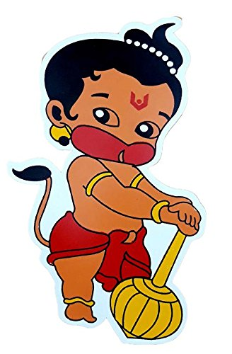 Sklh Bal Hanuman Sticker With Bike Shiner 100ml And Duster For