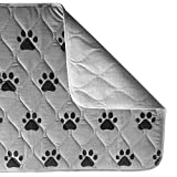 "Gorilla Grip Original Reusable Pad and Bed Mat Dogs and Cats Absorbs up to 4 Cups Machine Washable Waterproof Dog Crate Training Furniture Protection Fits 42 Inch Crate (Pets: 40"" x 26"")"