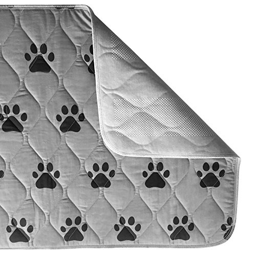 Gorilla Grip Original Reusable Pad and Bed Mat for Dogs, 40x26 inches, Absorbs 4 Cups, Oeko Tex Certified, Washable, Waterproof, Dog Crate Training, Furniture Protection Pads, Fits 42-inch Crates