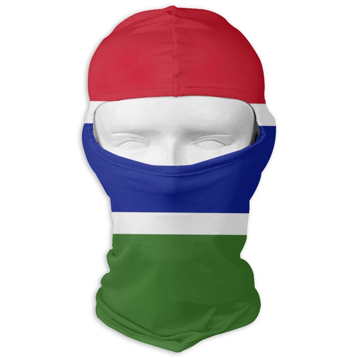 Wind-Resistant Face Mask LaoJi Flag of The Gambia Winter Ski Mask Balaclava Hood