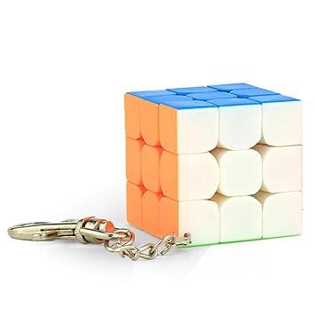 JIAAE 3X3 Mini Llavero RubikS Cube Puzzle para Niños ...