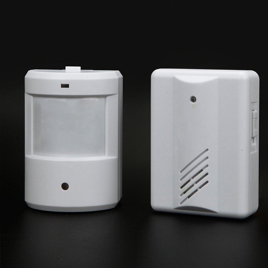 Baoblaze Digital LCD Cordless Door Chime 16 Chime Tunes Infrared Motion Sensor Door Bell Remote by Baoblaze (Image #2)