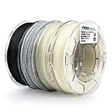 AMOLEN PLA 3D Printer Filament,4 Pack with Glow in The Dark Green and Glow Blue, Marble, Tri Color Temp Change, PLA Filament 1.75mm, 4 Spools Pack
